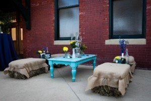 teal aqua coffee table gold dust vintage rentals event furniture wedding shabby