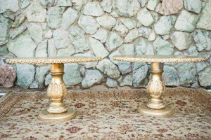 Oval side tables end table hollywood glam ornate wedding event furniture rental fort worth dallas