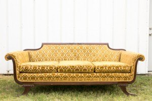green gold sofa french decor furniture rental wedding event dallas fort worth