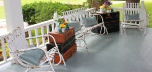 white metal patio glider outdoor chairs shabby rustic wedding event furniture decor rental dallas fort worth