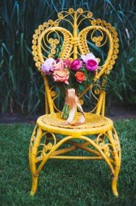 wicker cane rattan accent chair bridal yellow wedding event rental furniture decor dallas fort worth