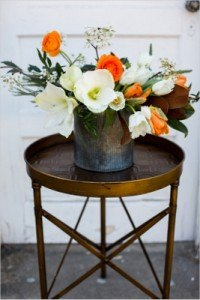 campaign side table accent vintage modern rental furniture decor wedding event photo shoot dallas fort worth