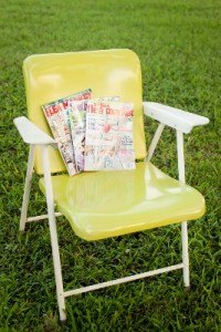 retro metal folding lawn chair rental furniture dallas fort worth event