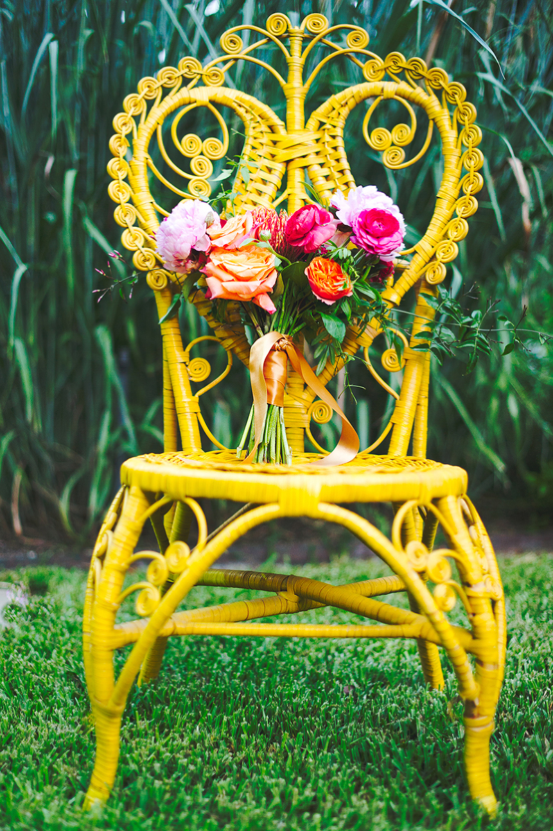 Exceptionnel Yellow Wicker Chair ~ $40