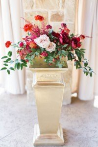 gold pedestal column wedding event ceremony flower centerpiece event rental antique decor dallas fort worth