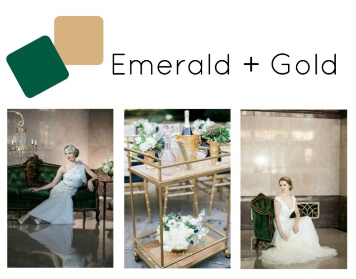 emerald green coupled with gold makes for one gorgeous wedding color palette there are endless ways to use this color scheme to help highlight any theme - Green And Gold Color Scheme