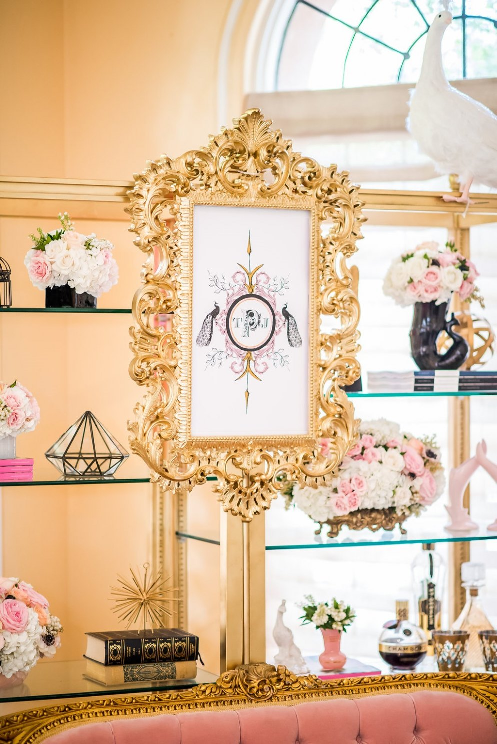 Pink and Gold Styled Lounge %%